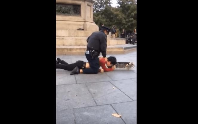 ¿Hubo llave de estrangulamiento en este arresto del NYPD?