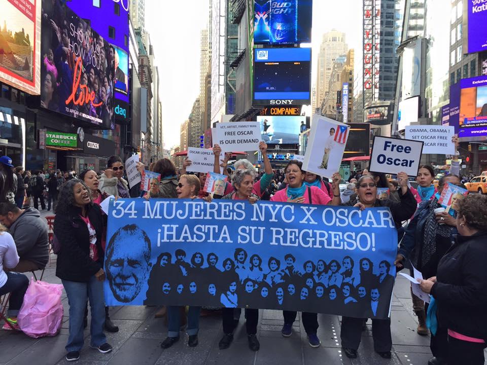 Reclamo por la libertad de Oscar López llega a Times Square
