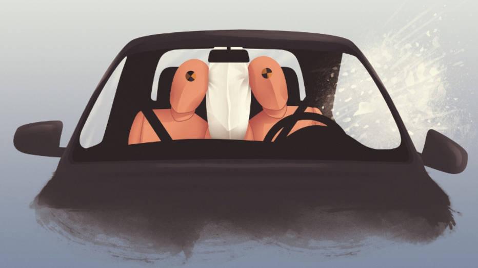 Dentro de poco, los airbags centrales serán obligatorios