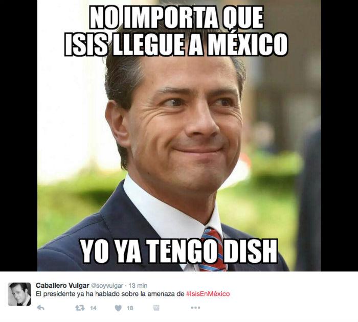 Usuarios de Twitter llenan de memes el #ISISenMéxico tras amenaza terrorista