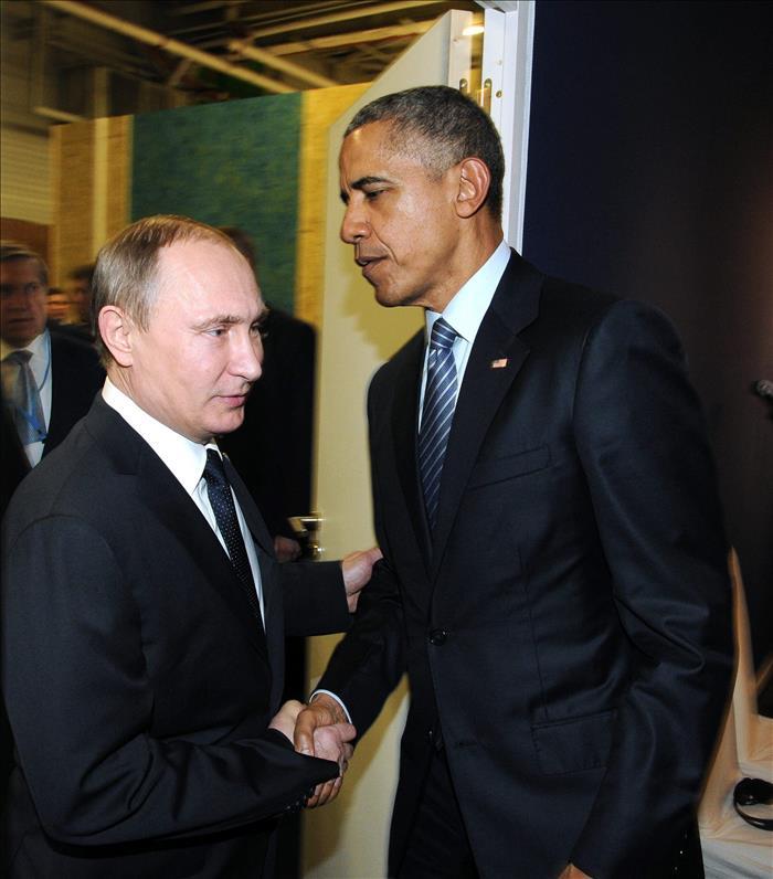 El presidente ruso, Vladimir Putin, y el estadounidense, Barack Obama.