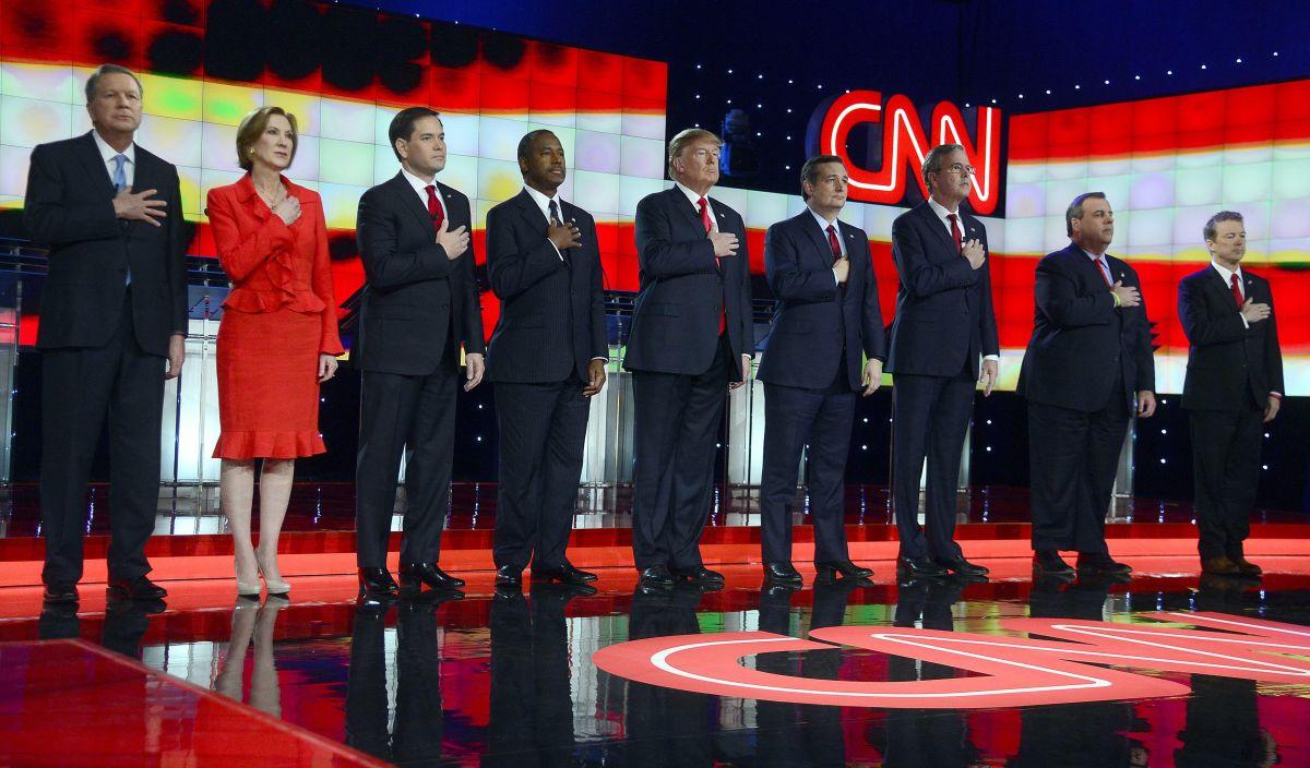 Congestionadas primarias republicanas. Las Vegas, diciembre 2015