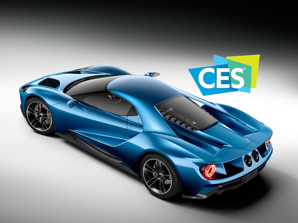 El Ford GT es el vehículo oficial del CES 2016