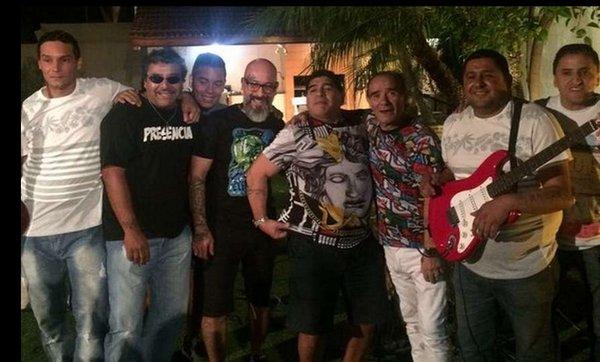 Así festejó Diego Maradona la Navidad