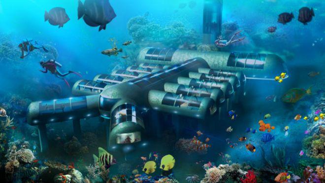 Mira las imágenes del primer hotel submarino