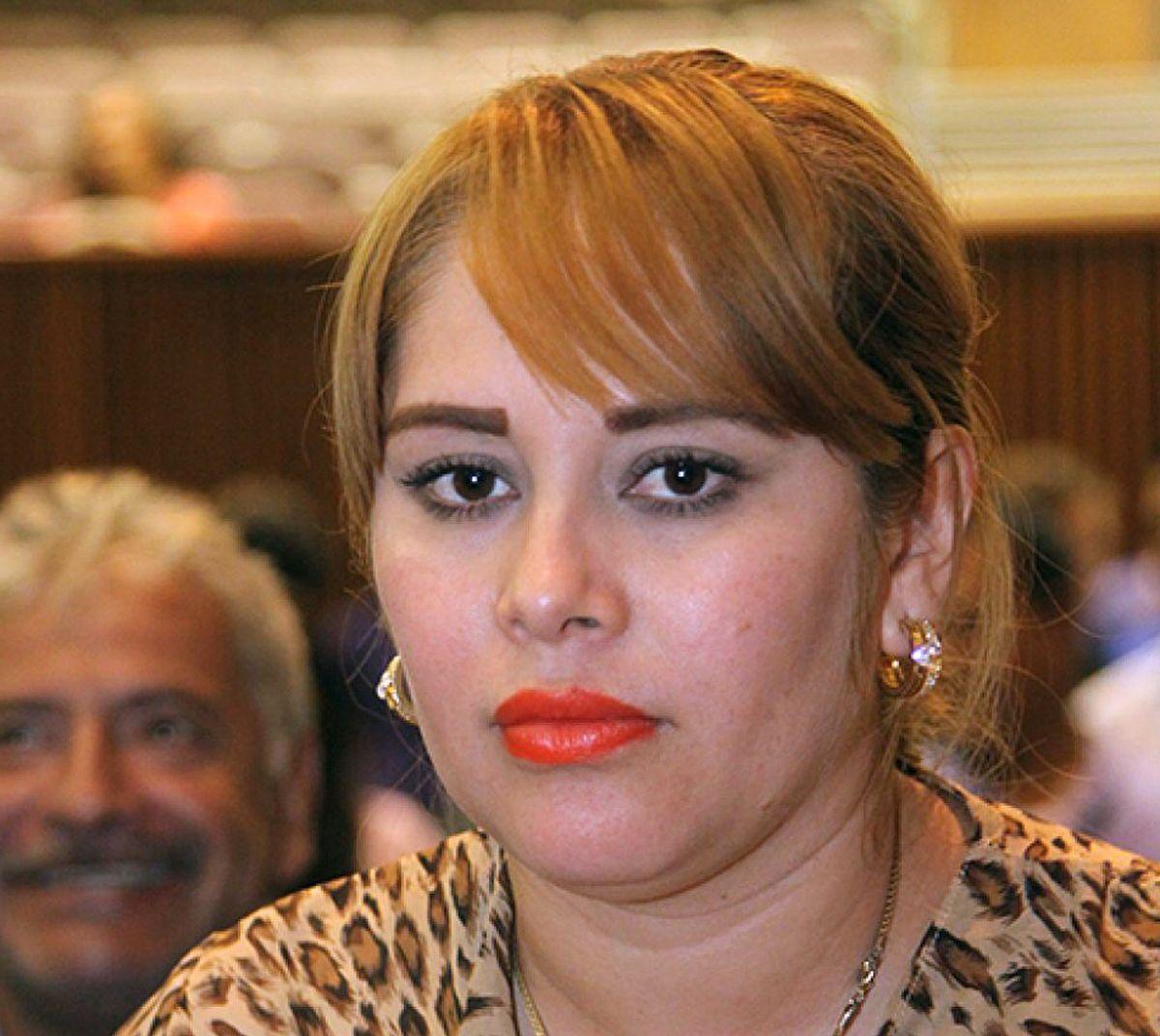 """La diputada del Congreso de Sinaloa Lucero Sánchez, vinculada por la Fiscalía de México con Joaquín """"El Chapo"""" Guzmán."""