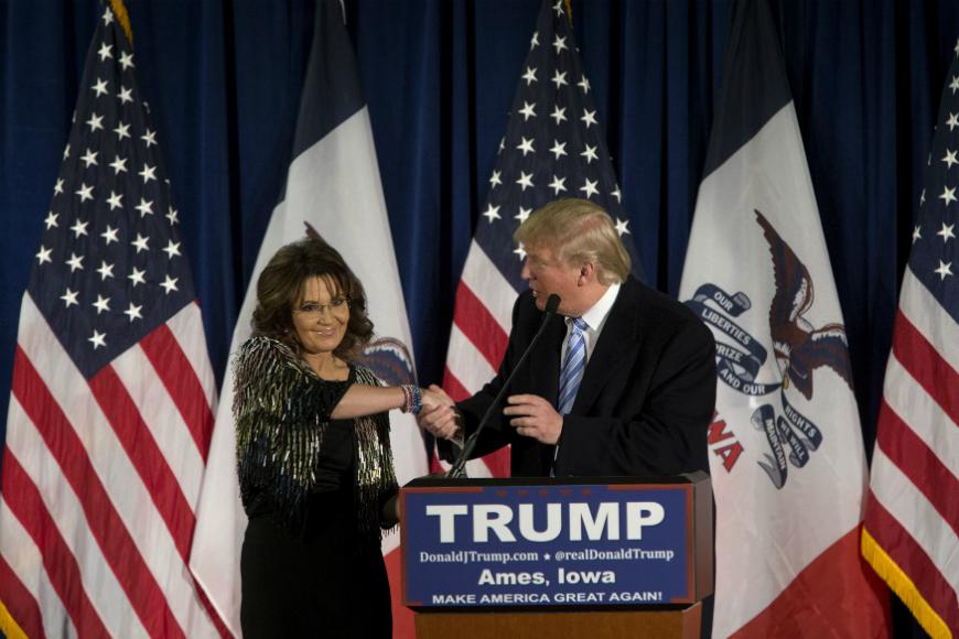 ¿Qué influencia tiene Sarah Palin en la carrera de Donald Trump?
