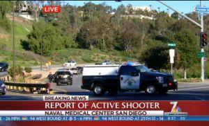 Hombre armado clausura centro naval en San Diego