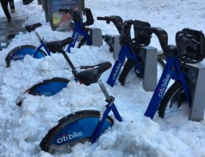 Reanudan servicio de Citi Bike tras tormenta Jonas