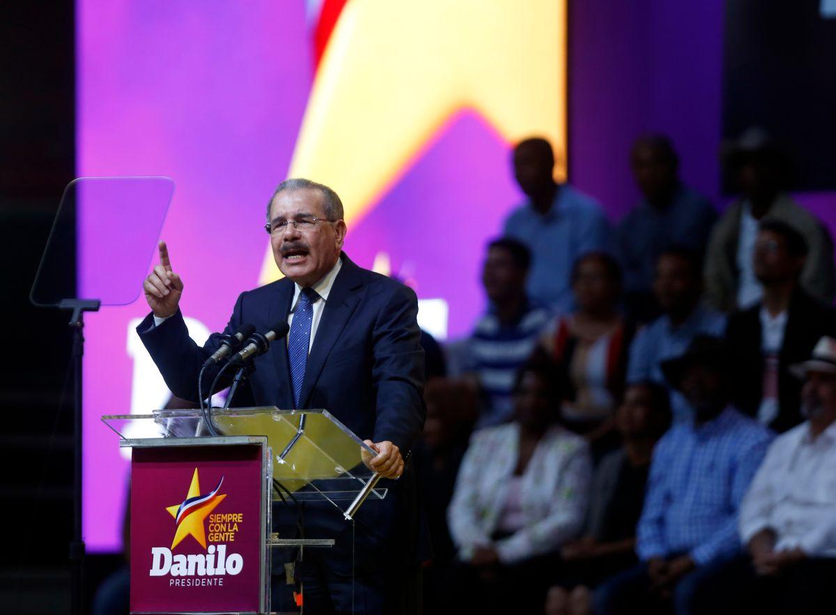 Medina sería el primer presidente dominicano que supera el 60 por ciento de los votos. EFE.
