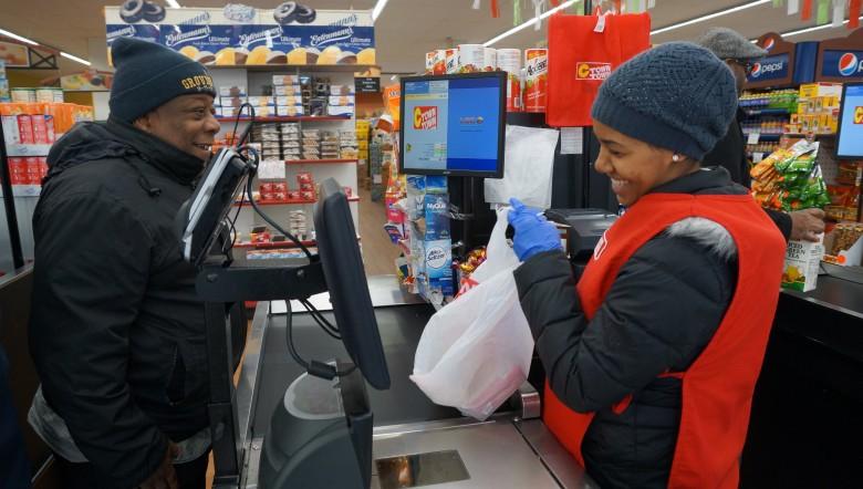 Trabajadores de supermercados
