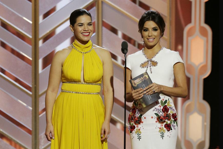 América Ferrera y Eva Longoria añaden humor latino en los Golden Globes
