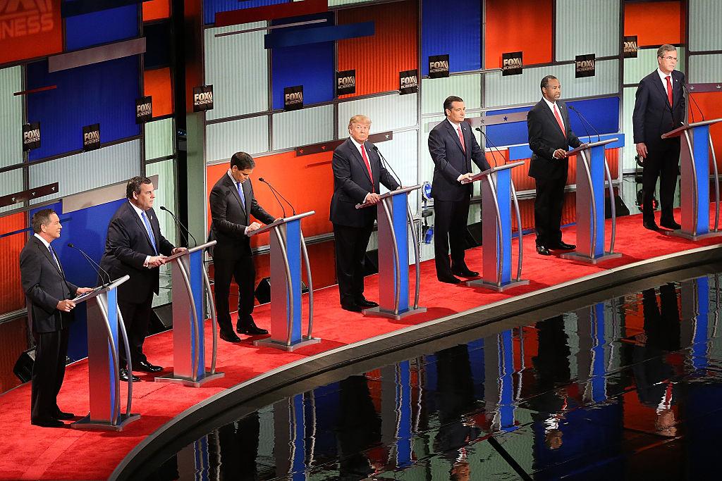 Republicanos recrudecen ataques en su primer debate de 2016