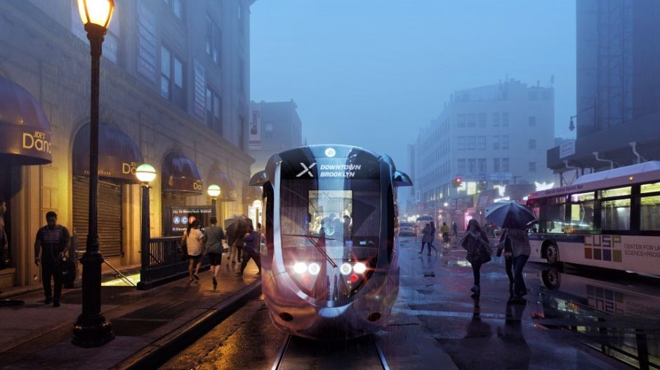 De Blasio resucitó su plan de tranvía entre Brooklyn y Queens, más corto y costoso