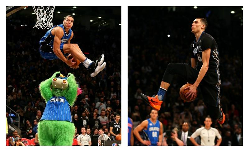 Aaron Gordon (Orlando Magic) y Zac Lavine (Timberwolves), se enfrentaron en una muerte súbita en el concurso de clavadas de la NBA.