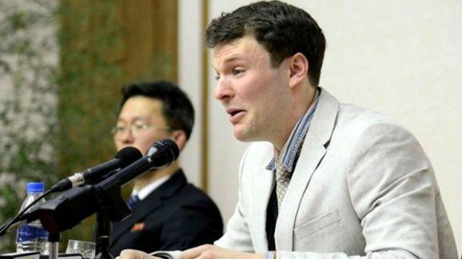 El pasado 29 de febrero Warmbier dijo entre lágrimas que había cometido crímenes en contra del Estado norcoreano.