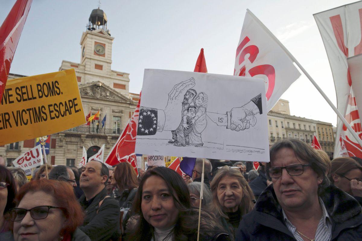 Varias ciudades europeas se han manifestado en contra del acuerdo entre la Unión Europea y Turquía sobre los refugiados.
