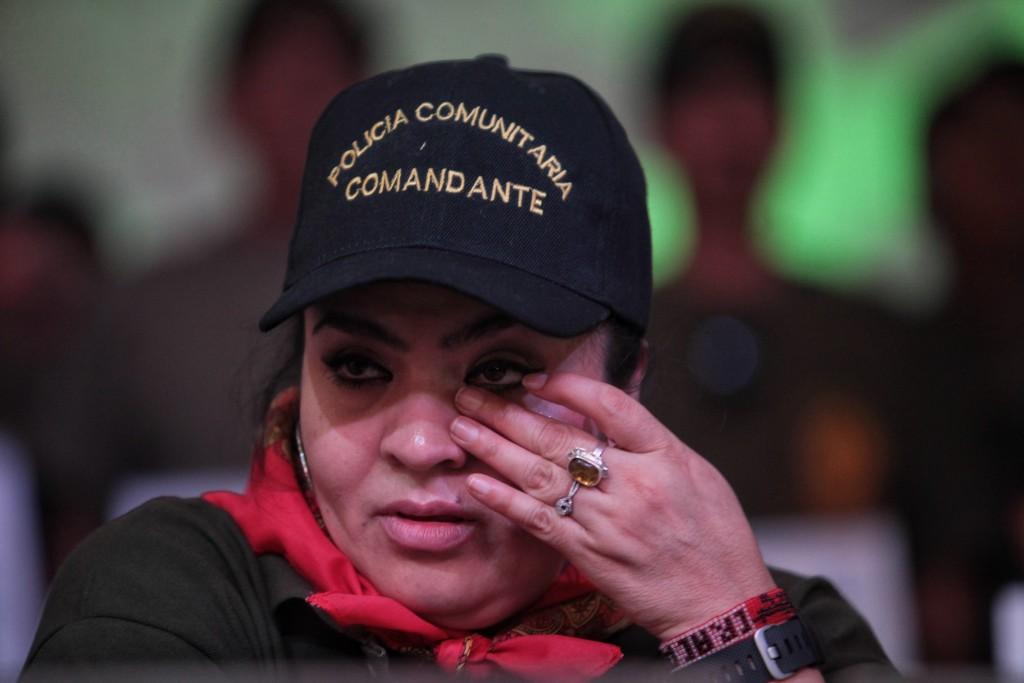 La activista mexicana Nestora Salgado salió de prisión el viernes 18 de marzo.