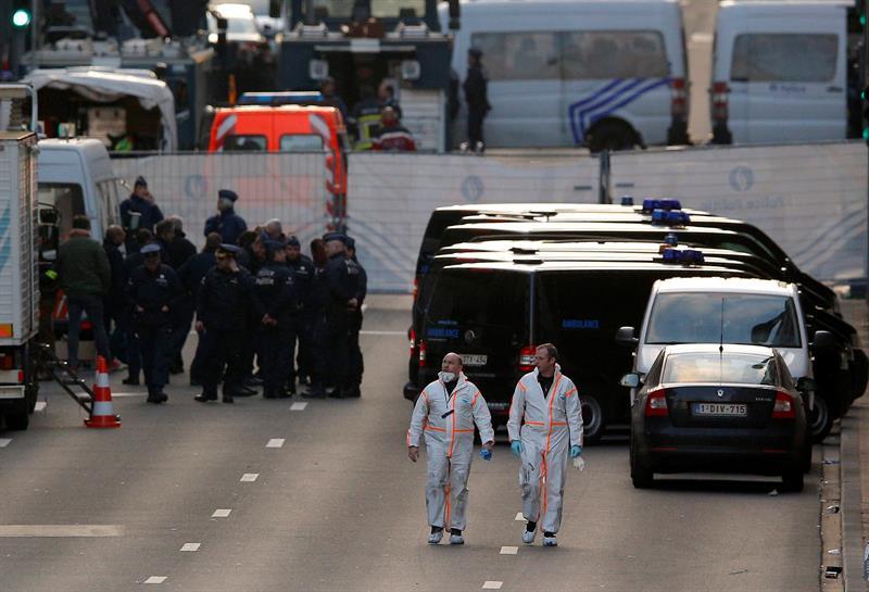 Una serie de explosiones sacudieron la capital belga.