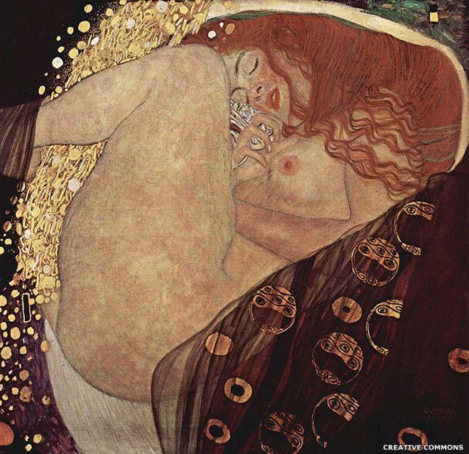 El artista austriaco simbolista era todo un maestro pintando el placer, como demuestra Danae (1907).