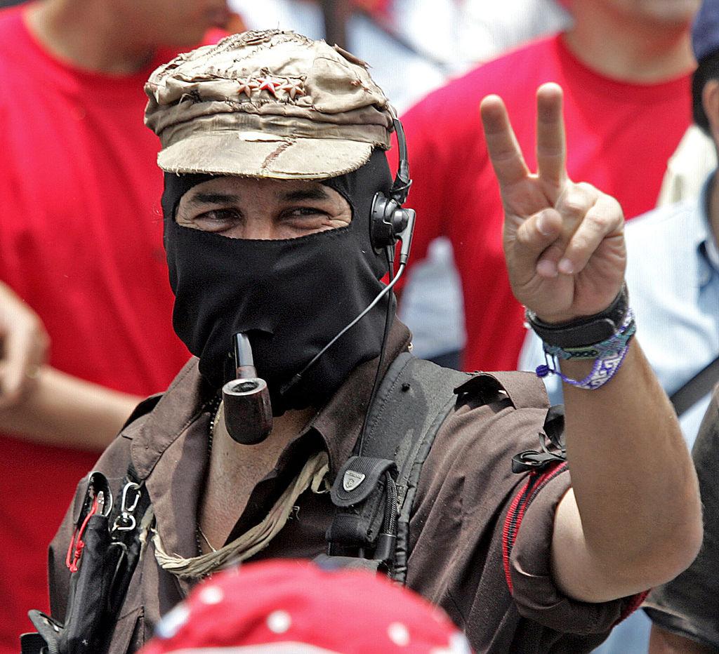 """Los zapatistas dijeron que el """"neoliberalismo"""" iría al """"basurero de la historia""""."""