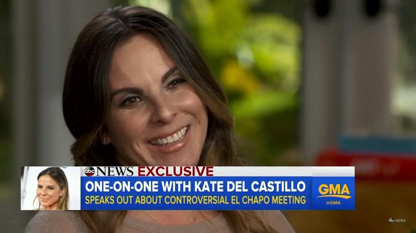 Kate del Castillo en entrevista con Diane Sawyer.