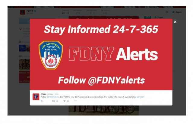 La nueva cuenta informa sobre los incendios que están ocurriendo.