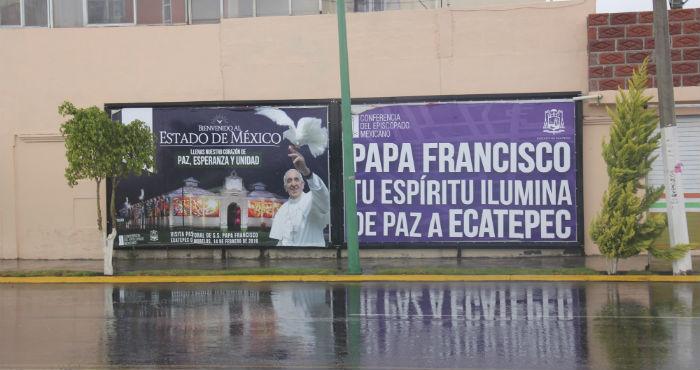 os encharcamientos fueron los primeros en hacer su aparición tras la visita del Pontífice.