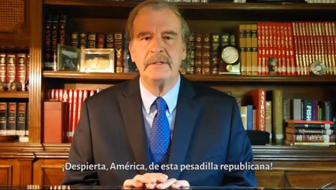 """Vicente Fox mete la pata otra vez: """"¿Quién va a recolectar manzanas"""", dice a Trump"""