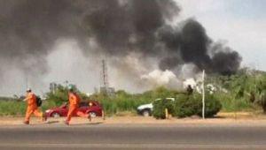 Así fue la explosión de la planta petrolera de Pemex