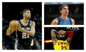 Cinco estrellas NBA y su aliado el tiempo