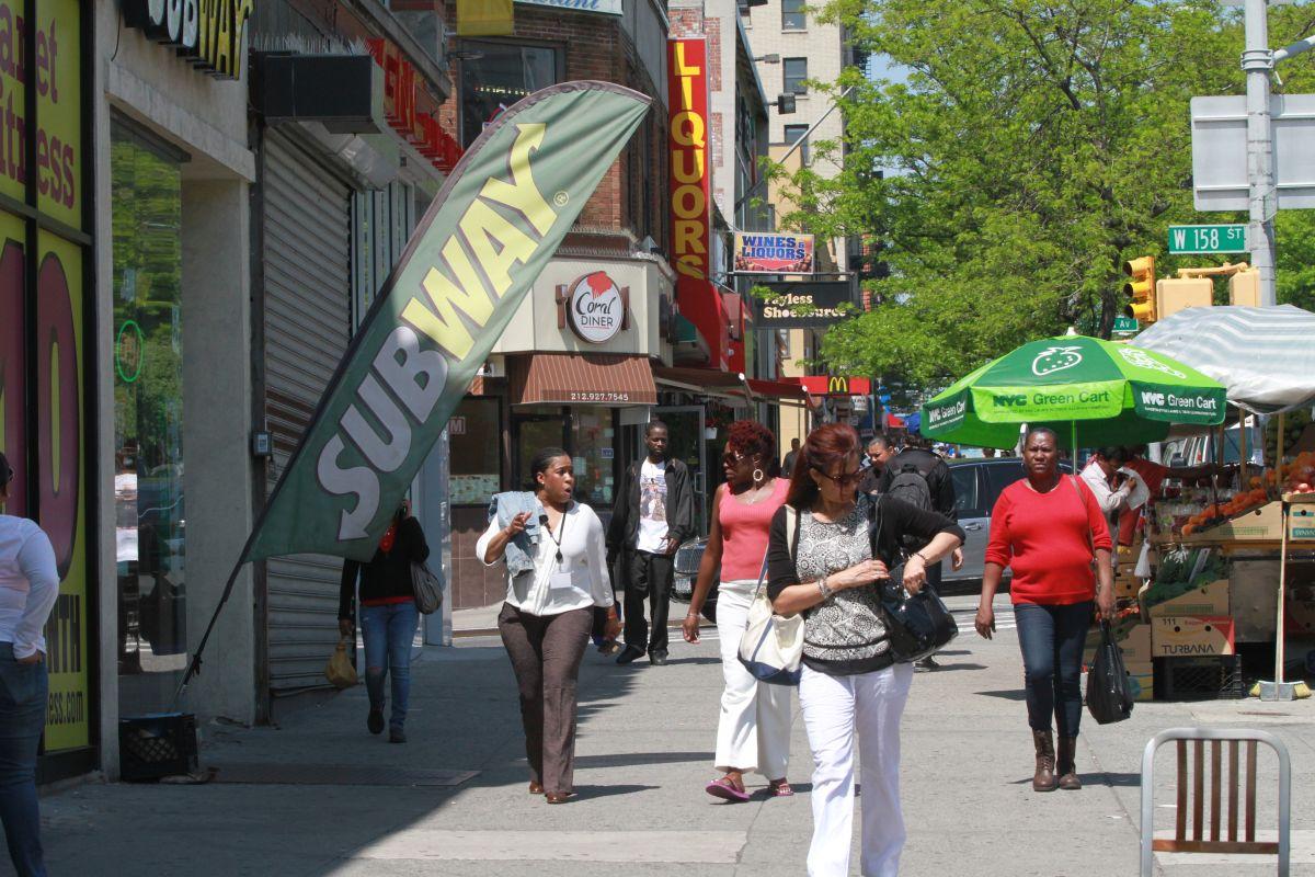 Dominicanos en  Washington Heights.