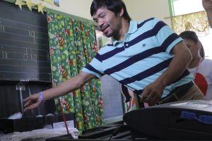 Manny Pacquiao tiene casi asegurado un puesto en el senado de Filipinas