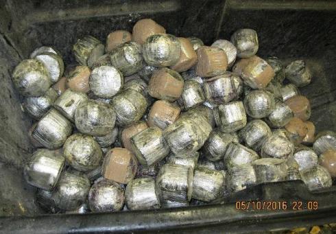 Los agentes descubrieron 2, 486 paquetes de la droga escondidos dentro de igual número de cocos.