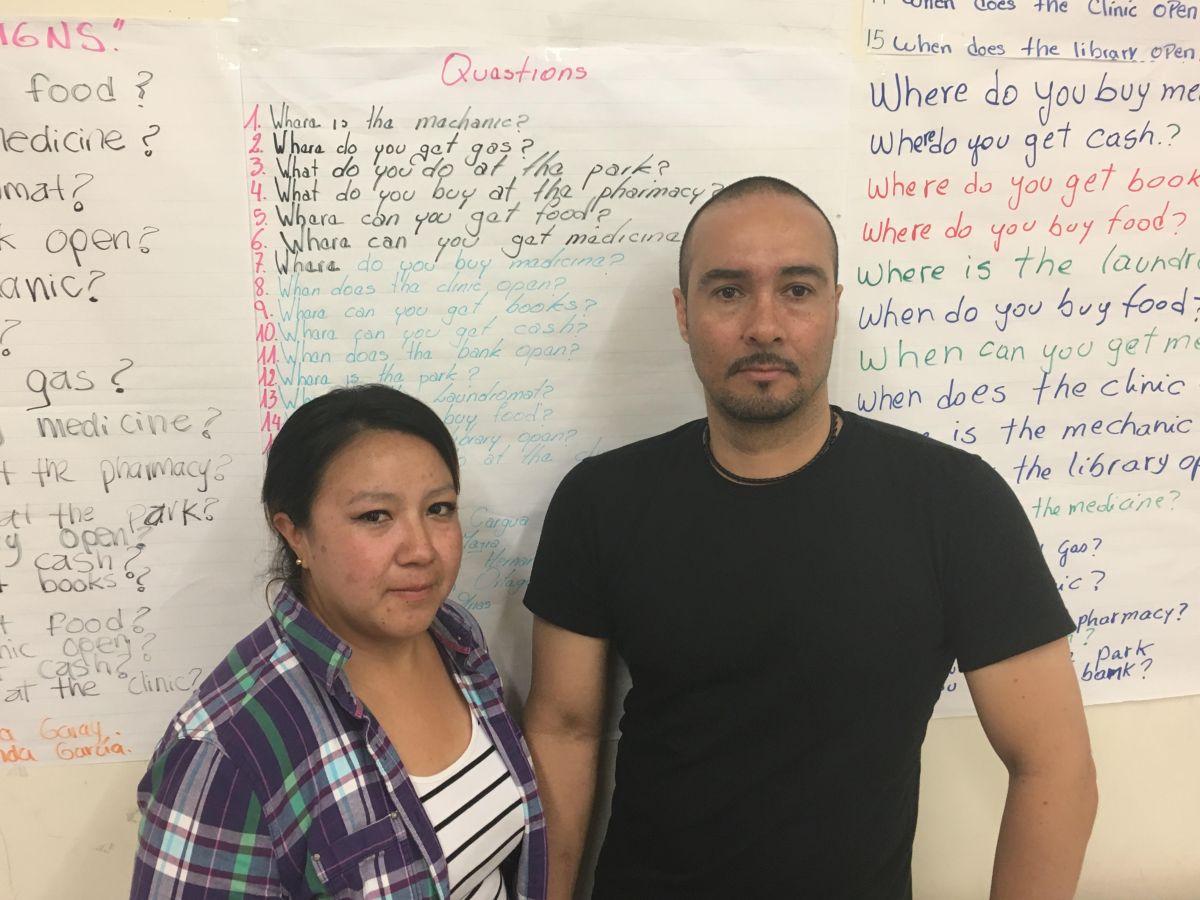 Silvia Arias  y Franky Castro esperan que la Ciudad apoye más a los inmigrantes para tener un futuro mejor