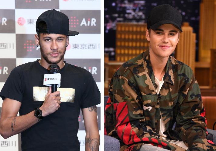 Video: Justin Bieber y Neymar a ritmo de balón