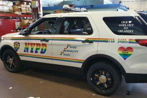 NYPD muestra apoyo a comunidad gay con patrulla con arcoíris