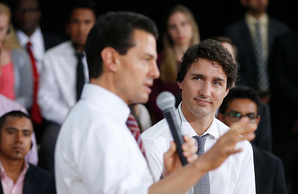 El primer ministro canadiense Justin Trudeau encabezó un evento en junio pasado junto al presidente mexicano Enrique Peña Nieto en la ciudad de Ottawa.