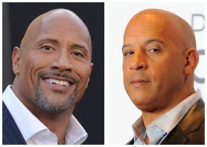 Tras enfrentamiento en redes, Dwayne Johnson y Vin Diesel se ven las caras