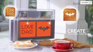 Video: El invento que escribe amorosos mensajes en el pan a través del celular