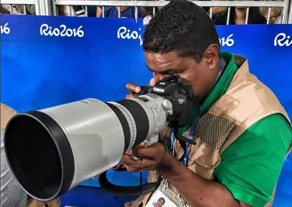 Maia en acción en los Juegos Paralímpicos de Rio de Janeiro.