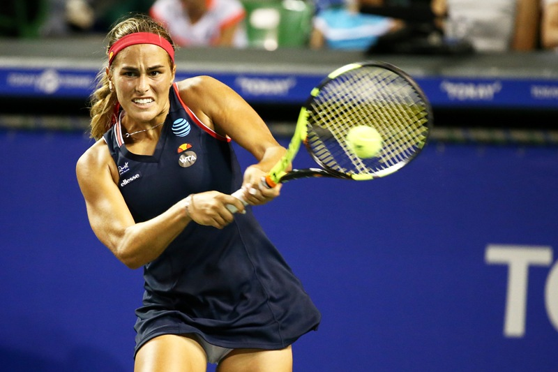 Mónica Puig celebra subida en el ranking pasando a segunda ronda en Tokio