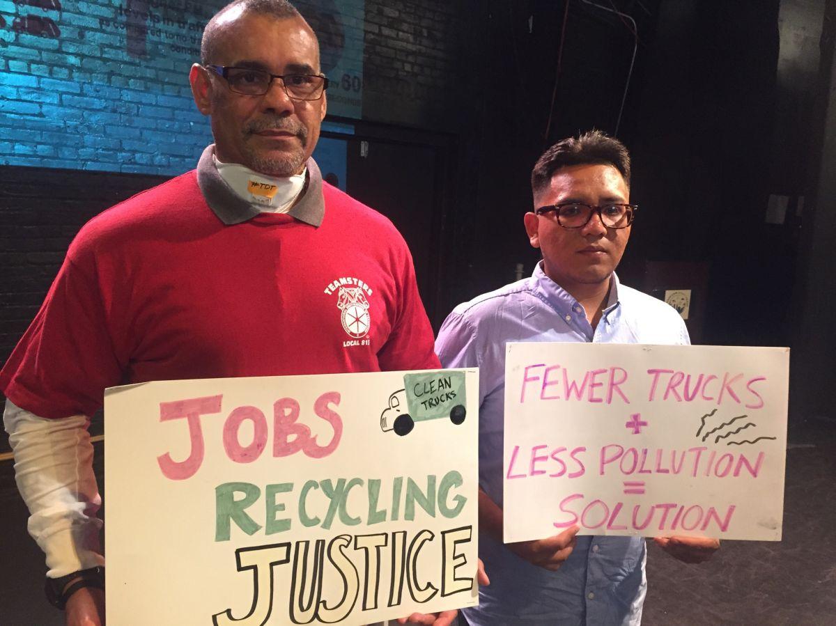 camiones recolectores de basura comercial en Nueva York que afecta a vecindarios pobres.