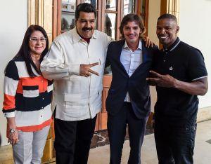 Fundación humanitaria critica a Jamie Foxx y Lukas Haas por reunirse con Maduro