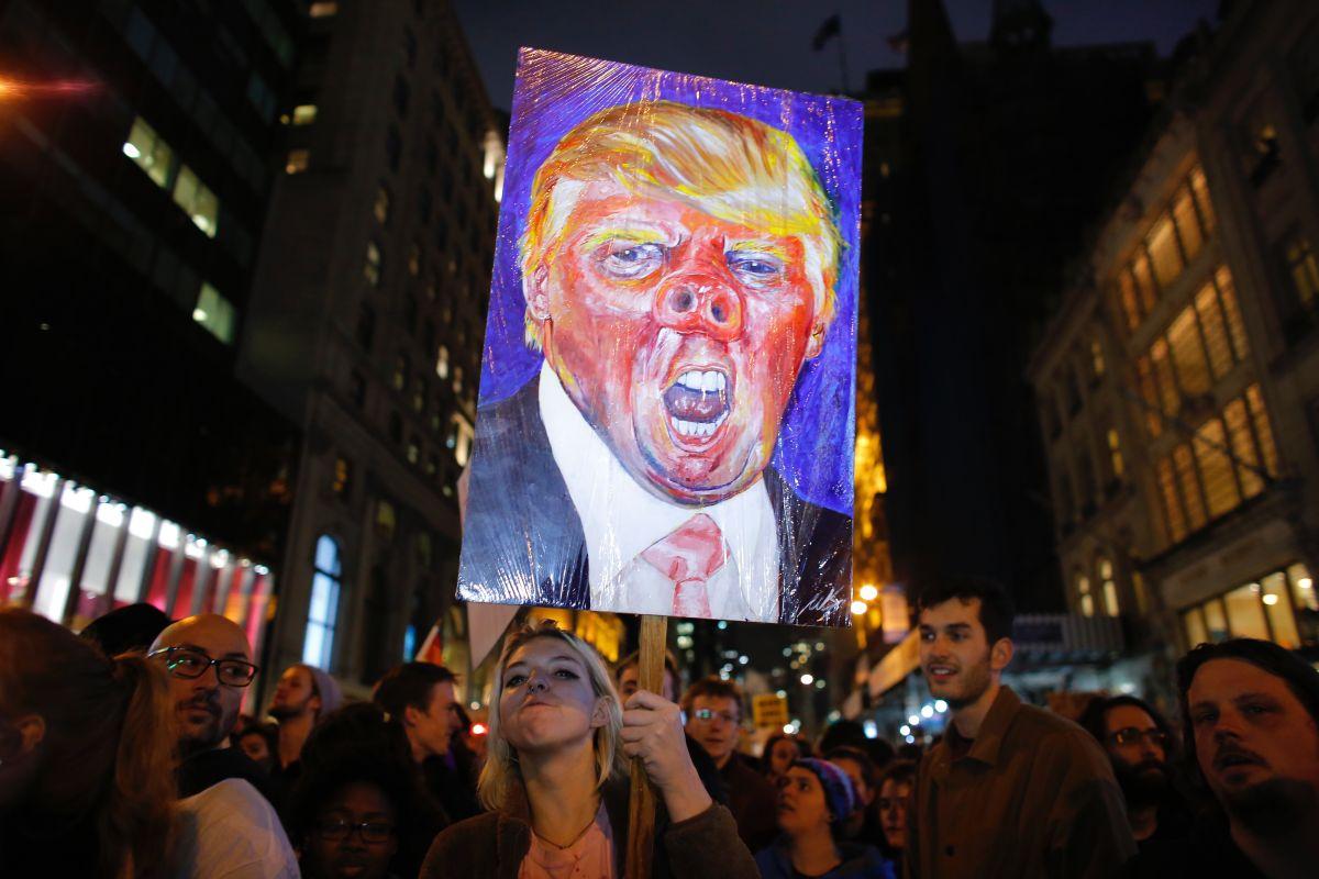 La Trump Tower se ha convertido en centro de protestas.