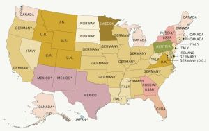 El mapa que muestra la migración a EEUU