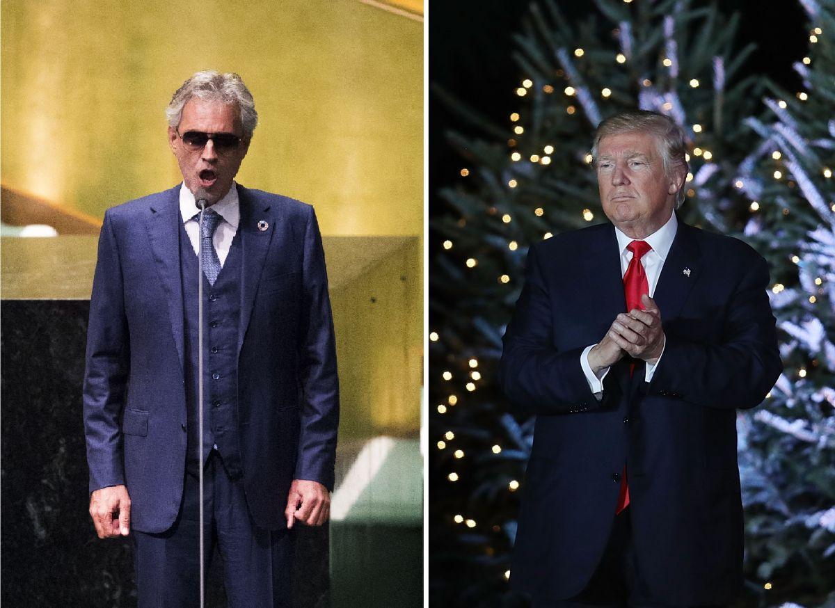 El presidente electo es admirador de Andrea Bocelli.