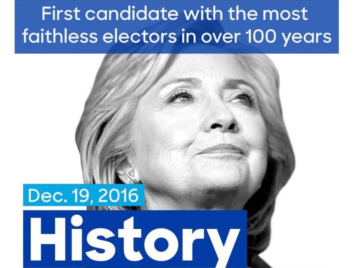 Clinton perdió más votos que Trump en Colegio Electoral