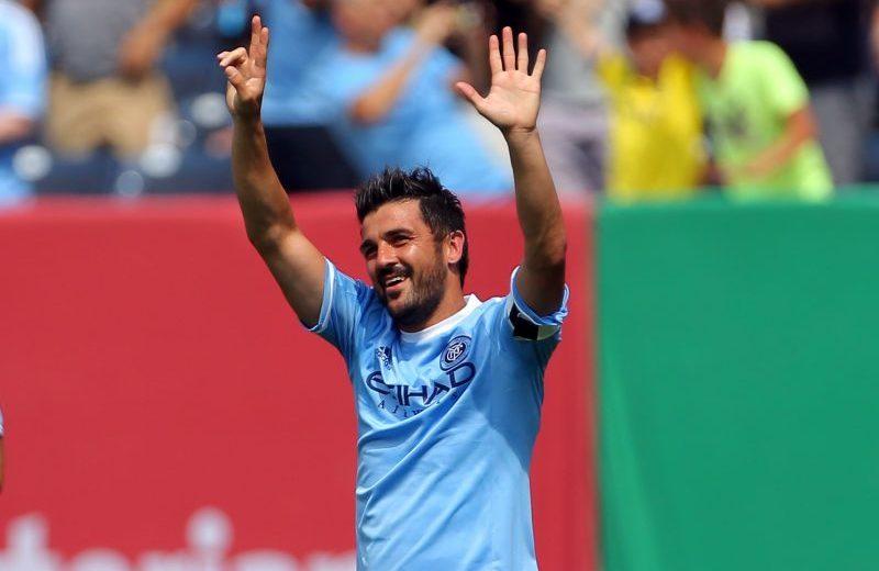 David Villa también fue contemplado en el once ideal de la temporada.