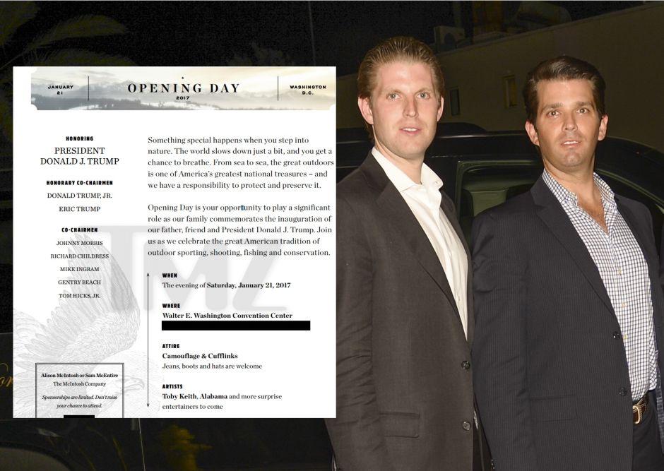 ¿Hijos de Trump hacen negocio con toma de posesión?